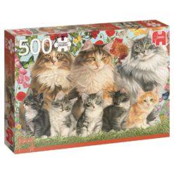 จิ๊กซอว์ 500 ชิ้น Pussy Cats Cat Family