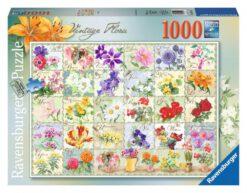 จิ๊กซอว์ 1000 ชิ้น Vintage Flora