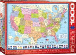 จิ๊กซอว์ 1000 ชิ้น Map Of The Usa